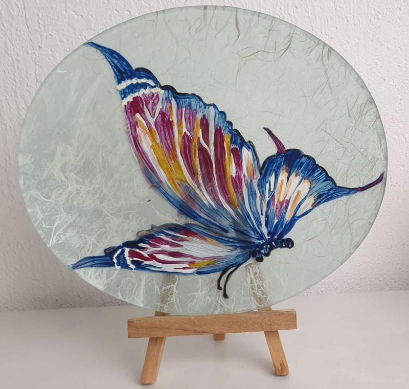 Assiette décorative Papillon