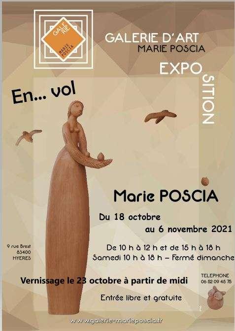 Exposition sculpture Marie Poscia Hyeres
